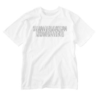 「百人一首 6番歌 中納言家持」カナクギフォントL Washed T-shirts