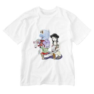 ガタリナとワラスボ Washed T-shirts