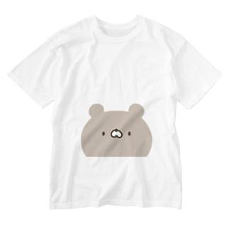 かわいいクマさん顔 Washed T-shirts