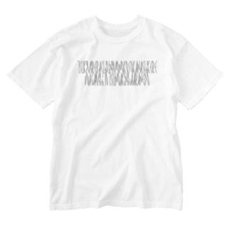 「百人一首 23番歌 大江千里」 Washed T-shirts