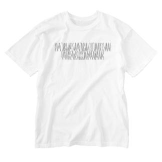 「百人一首 24番歌 菅家」カナクギフォントL Washed T-shirts