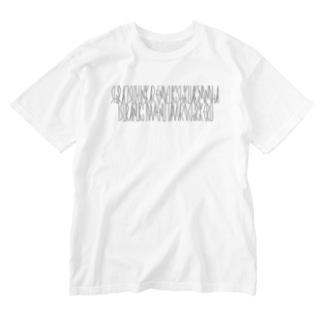 「百人一首 37番歌 文屋朝康」 Washed T-shirts
