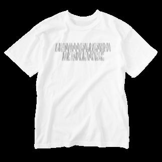 カナクギフォントの「百人一首 39番歌 参議等」カナクギフォントL Washed T-shirts