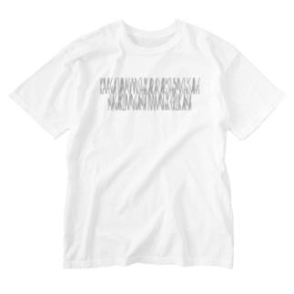 「百人一首 50番歌 藤原義孝」カナクギフォントL Washed T-shirts