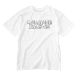 「百人一首 61番歌 伊勢大輔」カナクギフォントL Washed T-shirts