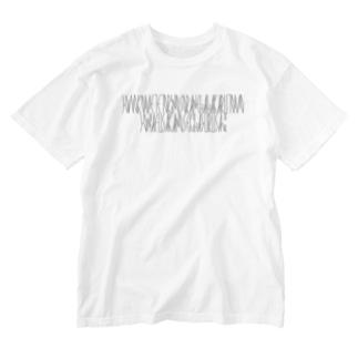 「百人一首 62番歌 清少納言」カナクギフォントL Washed T-shirts