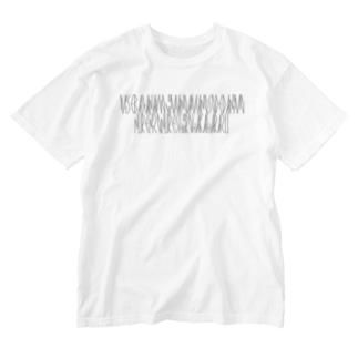 カナクギフォントの「百人一首 90番歌 殷富門院大輔」カナクギフォントL Washed T-shirts