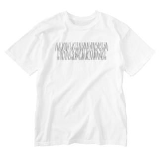 「百人一首 92番歌 二条院讃岐」カナクギフォントL Washed T-shirts