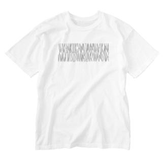 カナクギフォントの「百人一首 95番歌 前大僧正慈円」カナクギフォントL Washed T-shirts