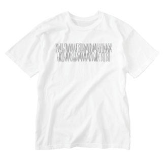 「百人一首 97番歌 権中納言定家」カナクギフォントL Washed T-shirts