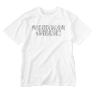 「百人一首 100番歌 順徳院」カナクギフォントL Washed T-shirts