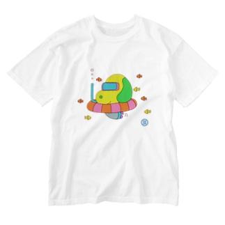迷い犬型サブマリン Washed T-shirts