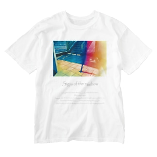 虹の気配 Washed T-shirts