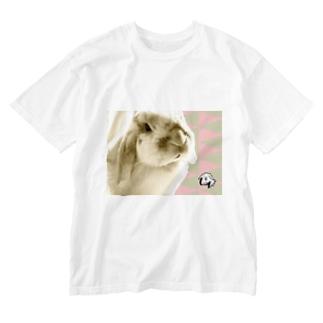 【uncle momo】たれ耳うさぎのモモおじさん Washed T-shirts