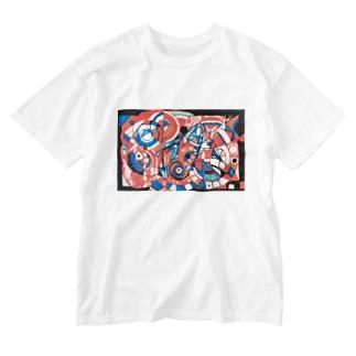 ヒヒ Washed T-Shirt