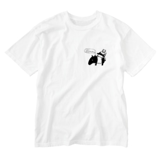 Let's 脱力! (ワンポイント) Washed T-shirts