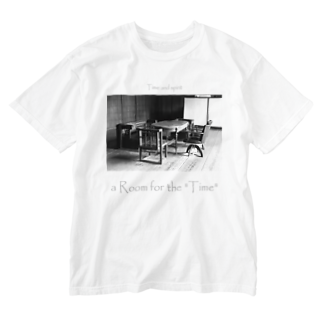 "Kazumichi Otsubo's Souvenir departmentのa Room for the ""Time"" ~ BW Washed T-shirts"