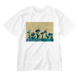 かきつばたずびょうぶ Washed T-shirts