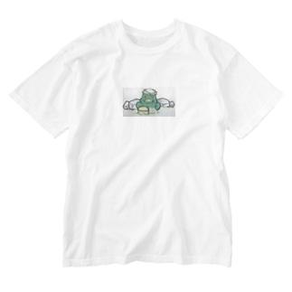 おふろどっとこむキャラクター「ふろざわ♨️ゆざえもん」 Washed T-shirts