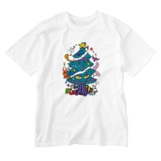 CALL MOLA 《Christmas tree》 Washed T-shirts