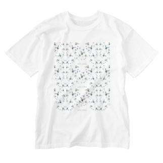 mizusawa model Washed T-shirts