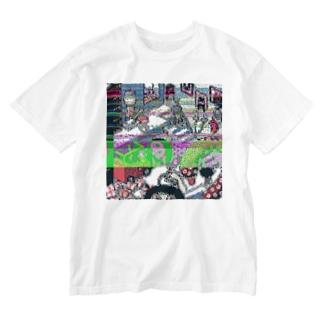 バグったドット部屋 Washed T-shirts