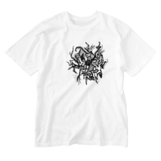 黒黴。 Washed T-shirts