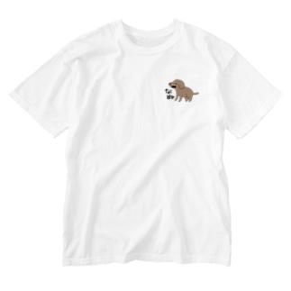 なぬ(透過) Washed T-shirts