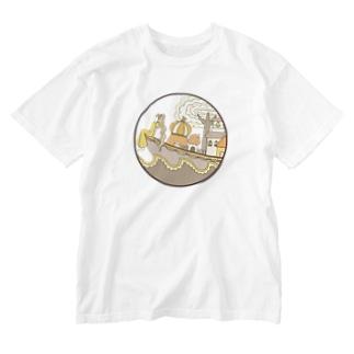 船の日常1 Washed T-shirts