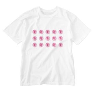 ちるまの店の並びお花 Washed T-shirts
