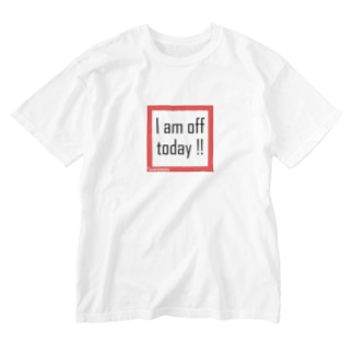 篠﨑瑞希の休みです(黒文字) Washed T-shirts