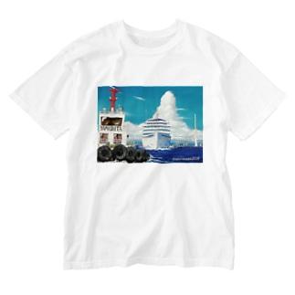ヤマナミヤの飛鳥II 出航! Washed T-shirts