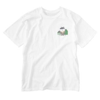 山登りうさちゃん Washed T-shirts