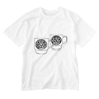 マグカップ猫 Washed T-shirts