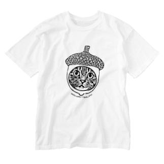 団栗猫 Washed T-shirts