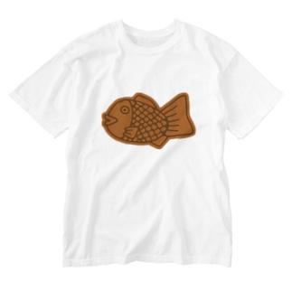 たい焼き Washed T-shirts