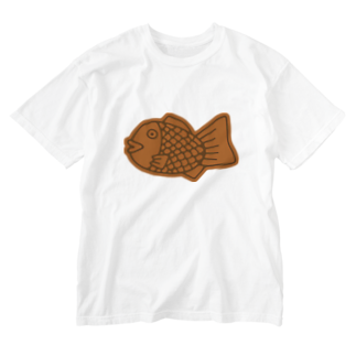 犬田猫三郎のたい焼き Washed T-shirts