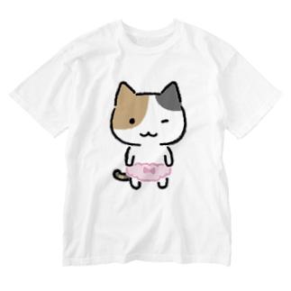 みけぱん Washed T-shirts