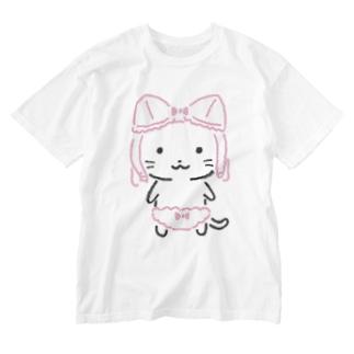 ねこぶらちゃん Washed T-shirts