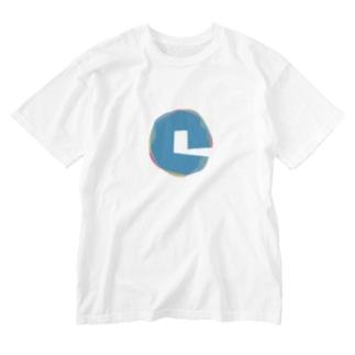 超水道シンロゴ Washed T-shirts