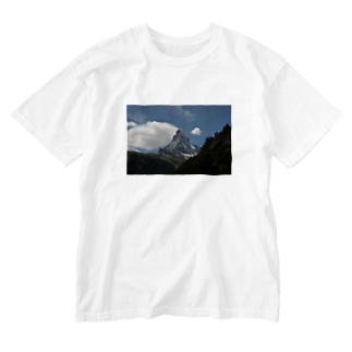 スイスの風景 Tシャツ #001 Washed T-shirts