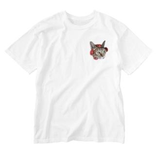 はなまる Washed T-shirts