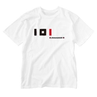 plus minus toichi 05-3 赤&黒 Washed T-shirts