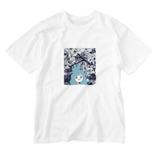 みいこ(エモ) Washed T-shirts