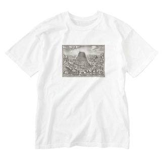 """The Tower of Babel"" S/S Tee  Washed T-shirts"