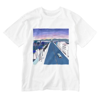 wash t / key visual white Washed T-shirts