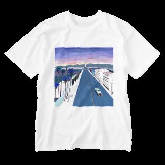 boymeetssheのwash t white / key visual Washed T-shirts
