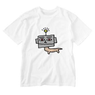 ロボいぬさん 真ん中 Washed T-shirts