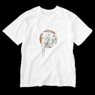 烏丸斗樹のぱお太郎 Washed T-shirts