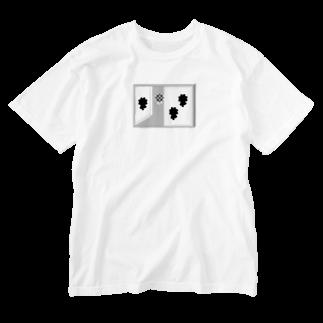 水越智美のお花が見える窓 Washed T-shirts